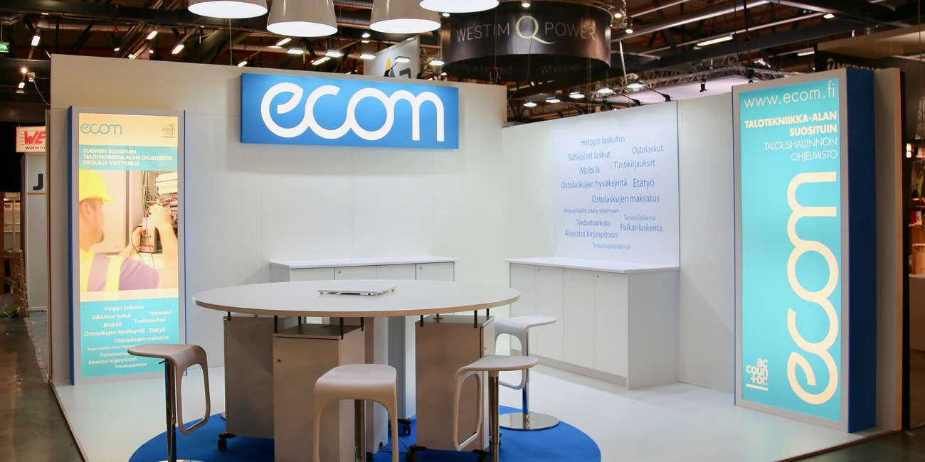 Ecom Sähkö-, Tele-, Valo-, ja AV-näyttelyssä